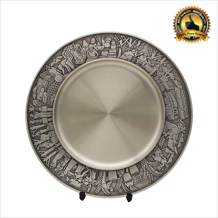7226 - Malaysian Industrial Pewter Plate