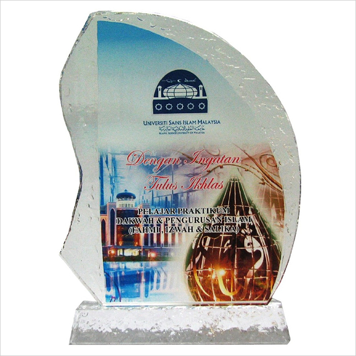 8128 - Exclusive Crystal Glass Awards
