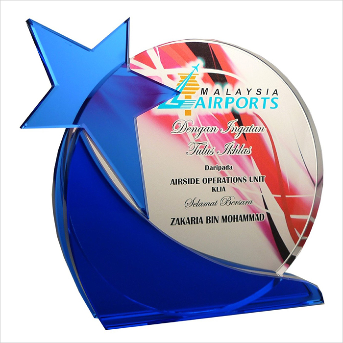 8157 - Exclusive Crystal Glass Star Awards