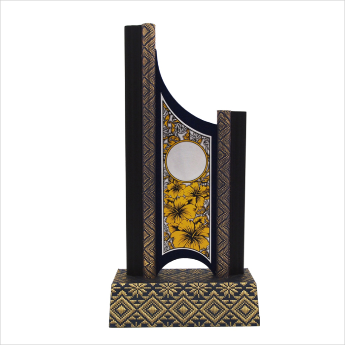 EP303 - Songket Wooden Trophy With Bunga Raya Aluminium Plate
