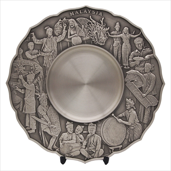 7227 - Cultural Dance Pewter Plate