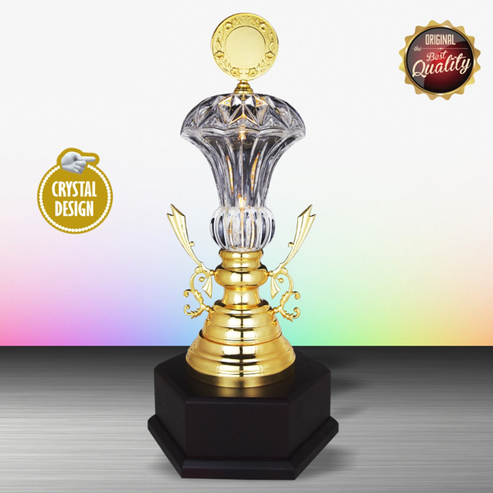WS6140 - Exclusive White Silver Trophy With Crystal