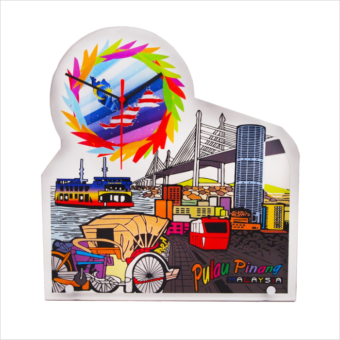 4265 - Acrylic Plaque With Clock