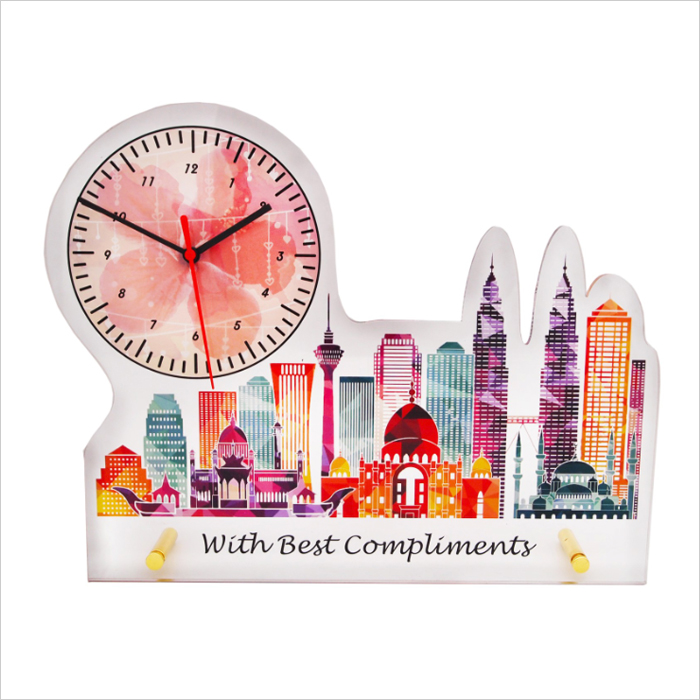 4264 - Acrylic Plaque With Clock