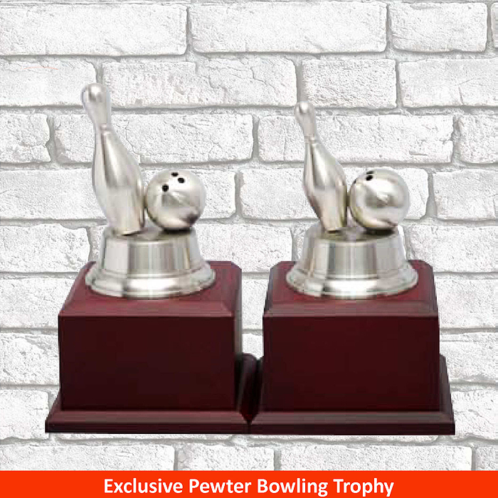 F350 - Exclusive Pewter Bowling Trophy