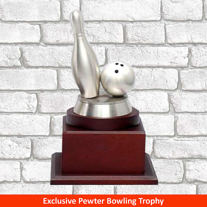F14 - Exclusive Pewter Bowling Trophy